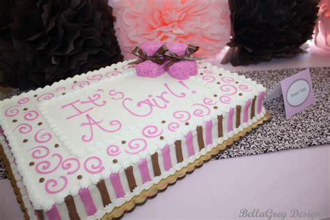 Baby Shower Sheet Cakes For by Chocolate And Pink Baby Shower Cake Ideas Baby Shower