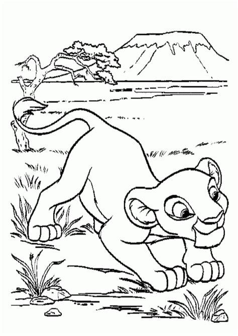 printable simba coloring pages  kids