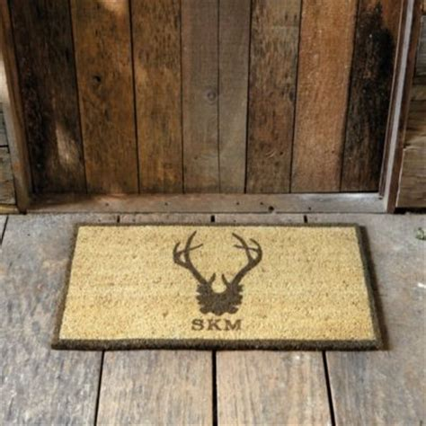 Personalized Coir Doormat by Suzanne Kasler Antler Personalized Coir Mat Ballard