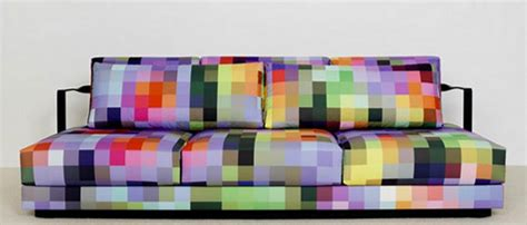 Pixel Inspiration In Decor : Pixel Couch Purple Green