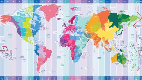 fuseaux horaires dans le monde carte et pr 233 sentations des fuseaux horaires