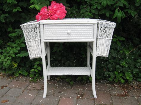 shabby chic bar table vintage wicker table wicker side table wicker porch table white wicker table bar harbor