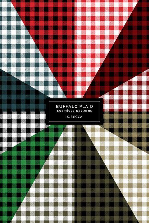 christmas buffalo plaid background patterns seamless