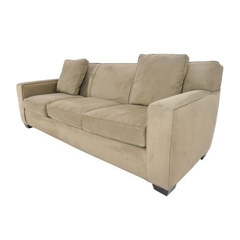 Crate And Barrel Microfiber Sofa Our Love Lounge Chris