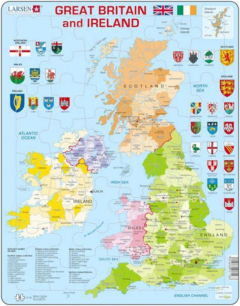 puzzle cadre carte du royaume uni en anglais 48