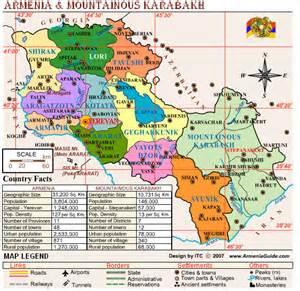 Armenia and Karabakh Map