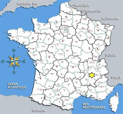 Carte De Avec Villes Principales Et Départements by Liens Divers