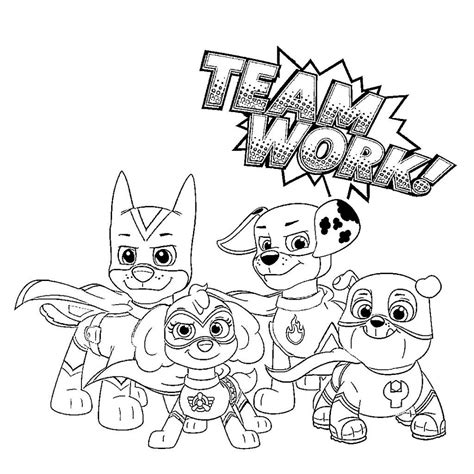 Free Printable Paw Patrol Coloring Pages in 2020 Paw