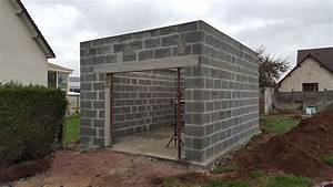 maconnerie garage toit plat batim construction With plan garage toit plat