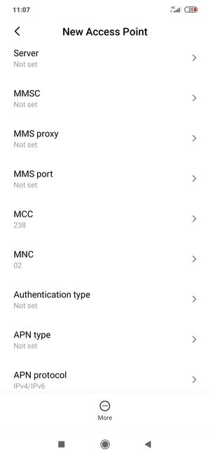 Set up Internet - Xiaomi Redmi Note 8 Pro - Android 9.0