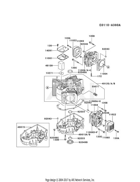 4 Engine Diagram by Kawasaki Fh500v Bs06 4 Stroke Engine Fh500v Parts Diagram