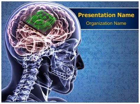 brain biochip powerpoint template      powerpoint templates  editabletemplates