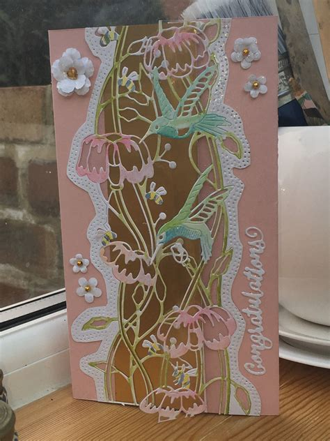 engagement card  tattered lace love