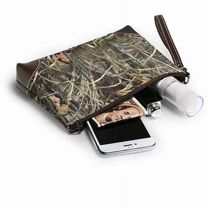 Leather Clutch Phone Camo Wristlet Realtree Purses