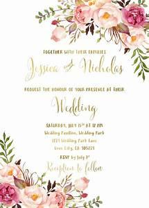 15 27 floral wedding invitation suite printable boho With wedding invitations native flowers