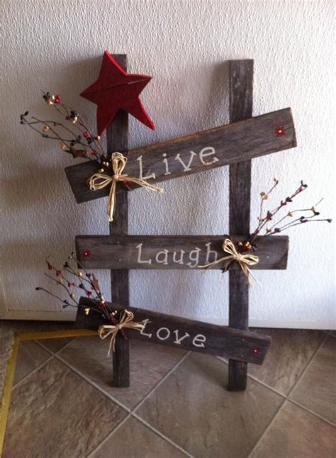 wood ladder    bf  hand painted wooden