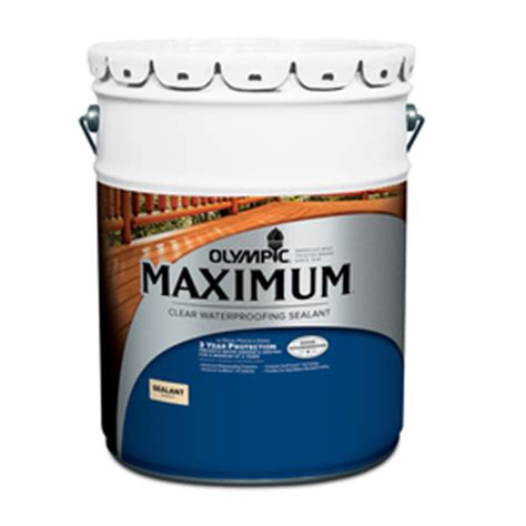 shop olympic maximum clear clear exterior stain actual