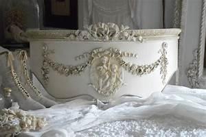 Ciel De Lit Demi Lune Patin Chambre Romantique Et Shabby