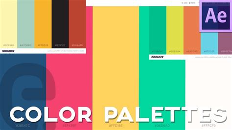 color scheme generator find  import color palettes  effects tutorial youtube