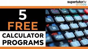 FREE TI-84 Hacks!! 5 ACT Calculator Programs   SupertutorTV