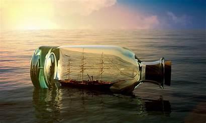 Bottle 3d Wallpapers Background Ship Desktop Inside