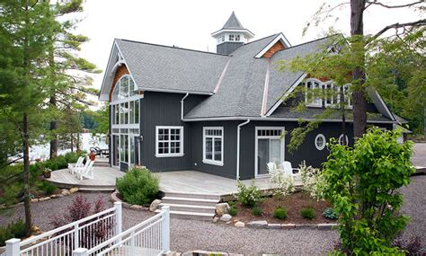 waterfront  gorgeous lakeside timber frame home