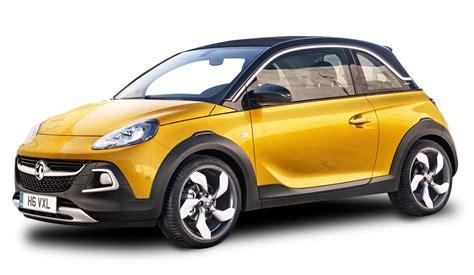 vauxhall yellow yellow vauxhall adam rocks car png image pngpix