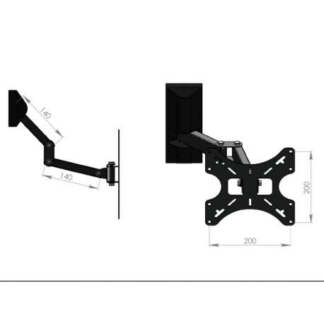 fixation murale tv philips tv wall mount support television 26 bfsat