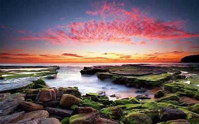 Sunset Laptop Coast Wallpapers Coastal Fondos Escritorio