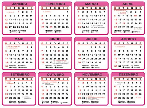 grade calendario de rosa imagem legal