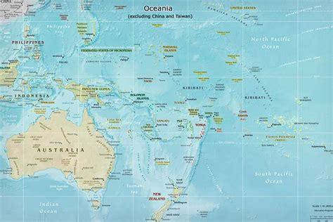 south pacific map oceania polynesia map simple clear