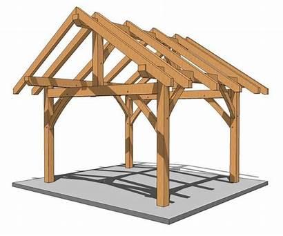 Beam Plans Timber Frame Plan Pavilion 14x14