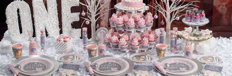 Pink Winter Onederland Birthday Theme  Shindigz Shindigz