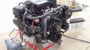 Mercruiser 350 Chevy V-8 Running On Test Stand