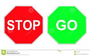 Stop and Go Signs Printable