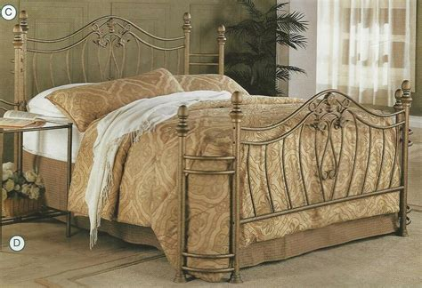 Iron Headboards And Footboards by New Or Size Gold Finish Iron Metal Headboard
