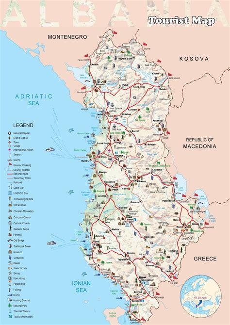 Carte Du Monde Avec L Albanie by Albanie Carte Touristique Voyages Cartes