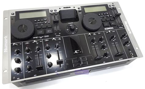 numark dj console numark icdmix3 dj mixing console whybuynew