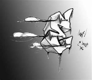 Graffiti on the wall: Design Graffiti Alphabets Letter E