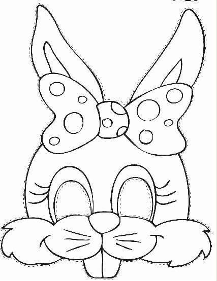 easter bunny face printable easter bunny mask template