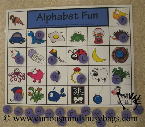 alphabet activity this could be a bingo as well