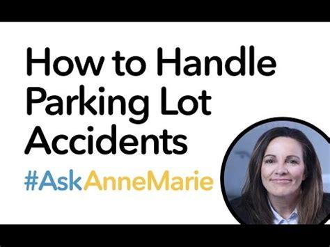fault determination   parking lot accident