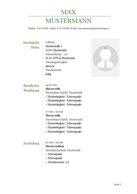 Lebenslauf Aktuell Vorlage by Lebenslauf Muster Vorlagen F 252 R Die Bewerbung 2019