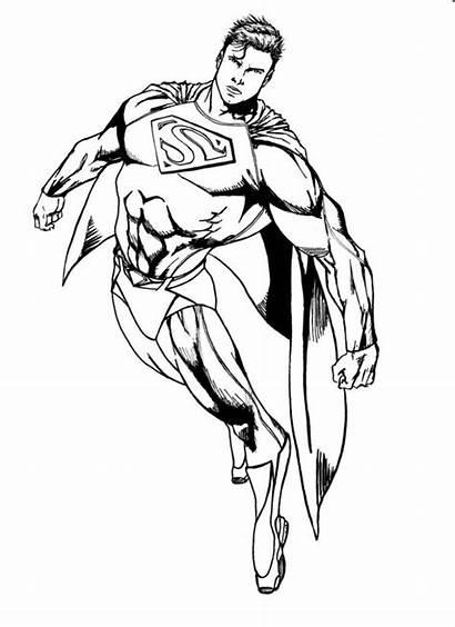 Superman Gambar Diwarnai Coloring Untuk Mewarnai Justice