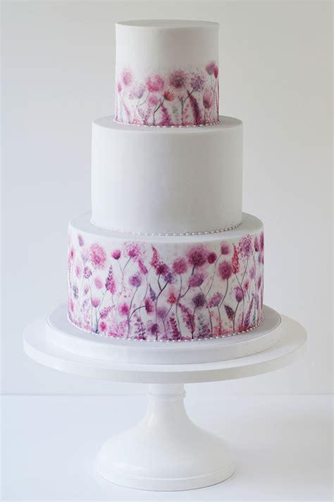 watercolour wedding cake   big day chwv