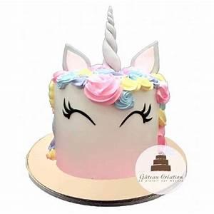 Gateau Anniversaire Petite Fille : g teau d 39 anniversaire pretty licorne ~ Melissatoandfro.com Idées de Décoration