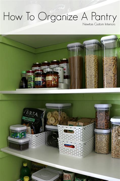 How To Organize A Pantry  Newton Custom Interiors