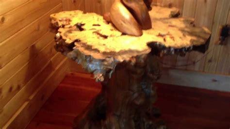 buckeye burl rustic table top  maple burl base youtube