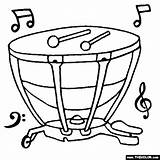 Coloring Instruments Musical Timpani Strumenti Musicali Instrument Musica Musique Percussion Disegni Coloriage Note Orchestra Notes Choir Drawings Drum Banda Modelli sketch template