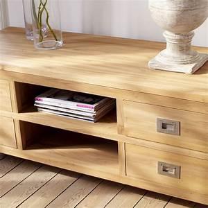 Meuble Tv Bois Massif Moderne : meuble en teck massif 10629 ~ Teatrodelosmanantiales.com Idées de Décoration